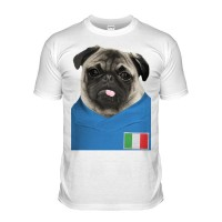 Italy Pug Football T-Shirt (Adult unisex)