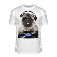 DJ Pug T-Shirt (Adult Unisex)