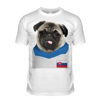 Slovakia Pug Football T-Shirt (Adult Unisex)