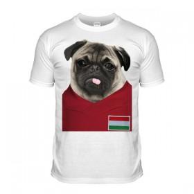 Hungary Pug Football T-Shirt (Adult Unisex)