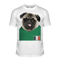 Ireland Pug Football T-Shirt (Adult Unisex)