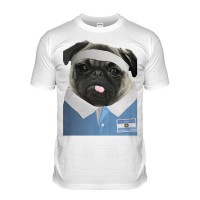 Argentina Rugby Pug T-shirt (Adult Unisex)