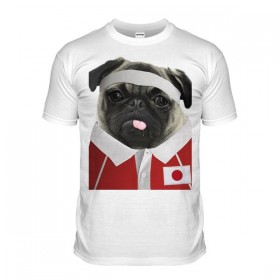 Japan Rugby Pug T-shirt (Adult Unisex)