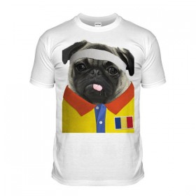 Romania Rugby Pug T-shirt (Adult Unisex)