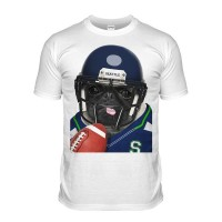 Seattle Pug T-Shirt (Adult Unisex)
