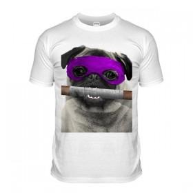Purple Ninja pug T-Shirt (Adult Unisex)
