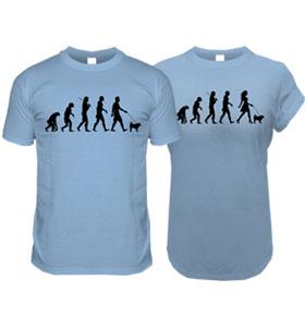 Blue Pug Evolution T-Shirt (Men & Women's)