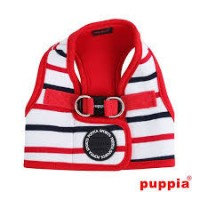 Puppia Eos Red & White Jacket Harness