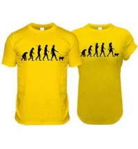 Yellow Pug Evolution T-Shirts (Adult Man & Woman)
