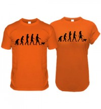 Orange Pug Evolution T-Shirts (Adults Man & Woman)