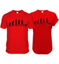 Red Pug Evolution T-Shirt (Adult Man & Women's)