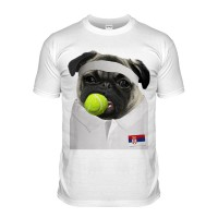 Tennis Pug T-Shirt (Adult Unisex)