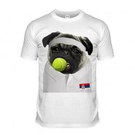 Tennis Pug T-Shirt (Adult Unisex)