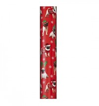 Pugs & Kisses Red Christmas Gift Roll