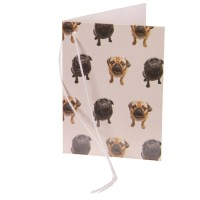 Fawn & Black Pug Gift Tag
