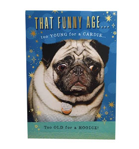 That Funny Age Pug Birthday Card I Love Pugs