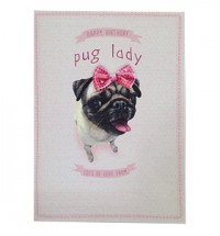 Pug Lady Birthday Card