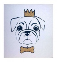 The King Pug Blank Card