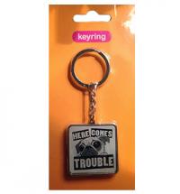 Pug Trouble Keyring