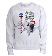 Naughty But Nice Pug Christmas Sweater