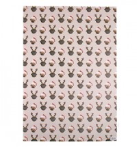Patterned Pug Christmas Gift Wrap Sheets