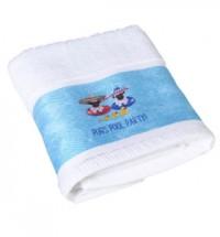Pug Pool Party Hand Towel