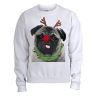 Pug Christmas Rudolph Unisex Sweater