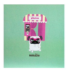 Pug Smile Blank Card