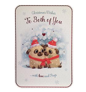 To The Both Of You Pug Large Christmas Card