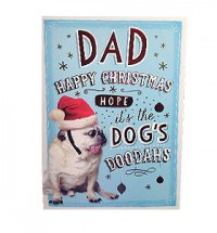 Pug Dad Christmas Card