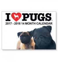 I Love Pugs 2017 Calendar