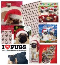 Pug Christmas Gift Wrap Set 1 & 2017 Calendar