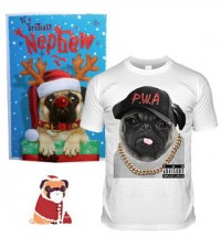 Nephew Pug Christmas Set