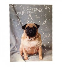 Pug Friend Birthday Card