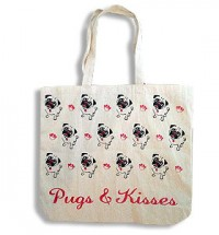 Pug Hearts Tote Bag