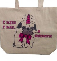 Pug Unicorn Tote Bag