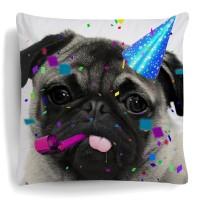 Pug Party Cushion