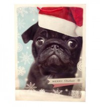 Extra Large Black Pug Christmas Gift Bag