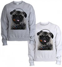 Gamer Pug Unisex Sweater