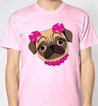 Pink Bow Girl Unisex T-Shirt