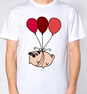 Air Balloon Pug Unisex T-Shirt