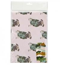 Camo Pug Gift Wrap Set