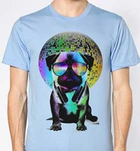 Disco Pug Unisex T-Shirt (Available in 4 colours)