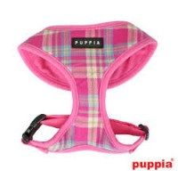 PUPPIA SPRING PINK CHECKED HARNESS SIZE LARGE