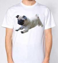 Jumping Pug Unisex T-Shirt