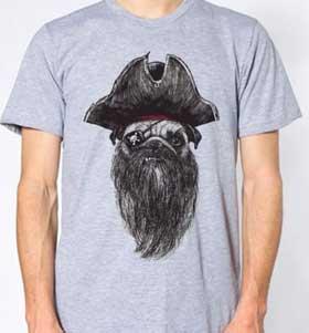 Pirate Pug Unisex T-Shirt