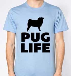 Blue Pug Life Unisex T-Shirt