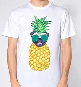Pineapple Pug Unisex T-Shirt