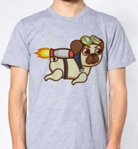 Rocket Pug Unisex T-Shirt