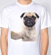 Serious Pug Unisex Selfie T-Shirt
